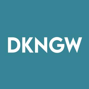 Stock DKNGW logo