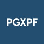 Stock PGXPF logo