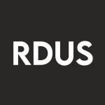 Stock RDUS logo