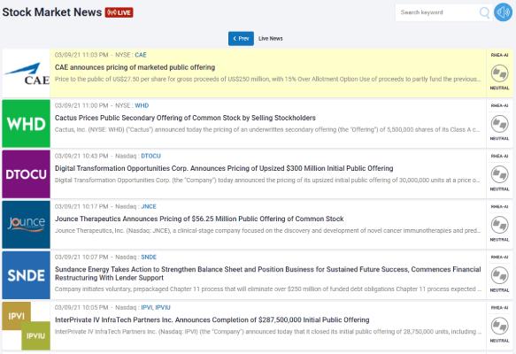 Stock News Screenshot